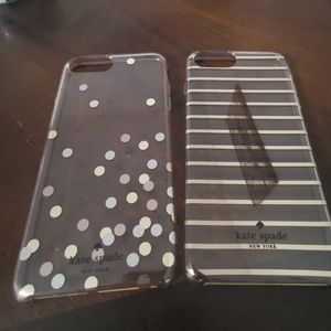 2 Kate Spade clear cases
